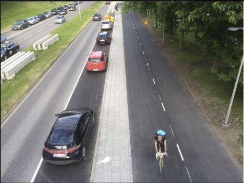 Ny cykelbana N Mälarstrand Sthlm